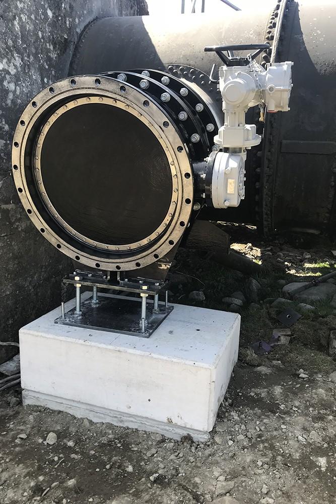 Scour Valve Spool Piece Installation, Dolgarrog Hydropower Station